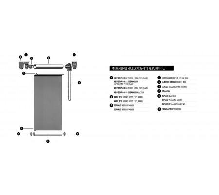 Μηχανισμός Roller Φ32 - Φ38 Χειροκίνητος